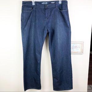 Seven7 Dark Wash Straight Denim Jeans Size 40x32